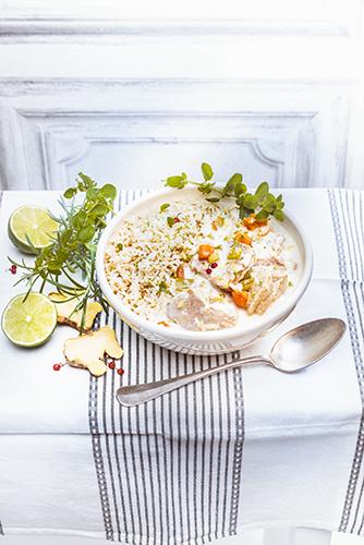 recettes en famille, blanquette de veau citron vert gingembre et riz sauvage