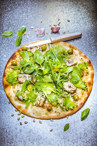 junk food healthy recipes green pizza