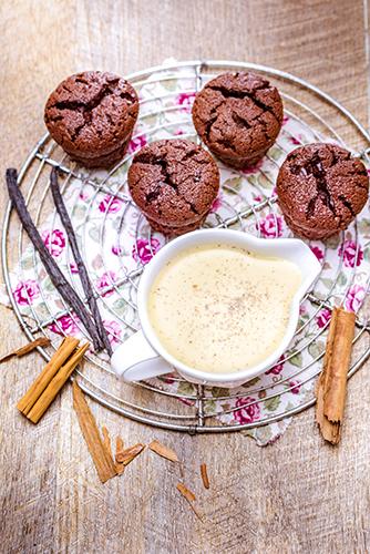 muffins-chocolat-creme-anglaise