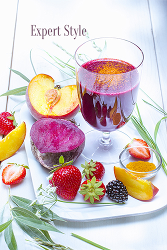 smoothie-peche-bettrerave-fraise-mures-safran-multivitamines-offre-recettes-photos-all-in-one