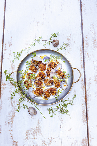 palourdes-farcies-chorizo-noisettes-thym-recettes-herbes