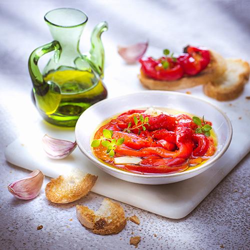 Poivrons confits à l'italienne